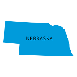 Nebraska state plain map