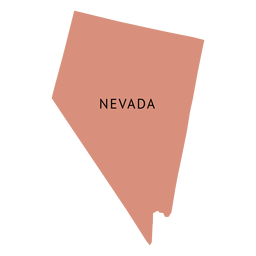 Nevada state plain map