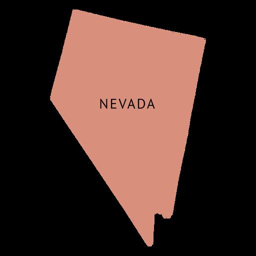 Nevada state plain map Transparent PNG