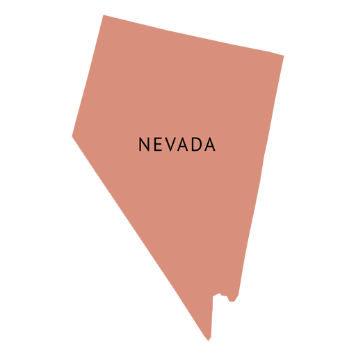 Nevada state plain map