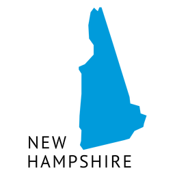 Mapa llano del estado de New Hampshire