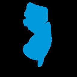Mapa llano del estado de New Jersey