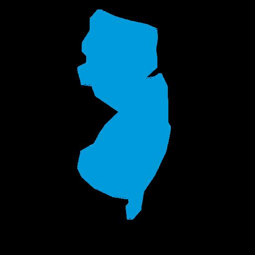 Mapa llano del estado de New Jersey Transparent PNG