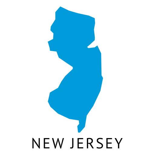 New jersey state plain map Transparent PNG