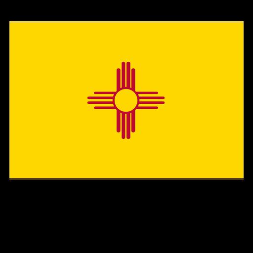 Bandeira do estado do Novo México Transparent PNG