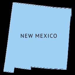 Mapa da planície do estado do Novo México