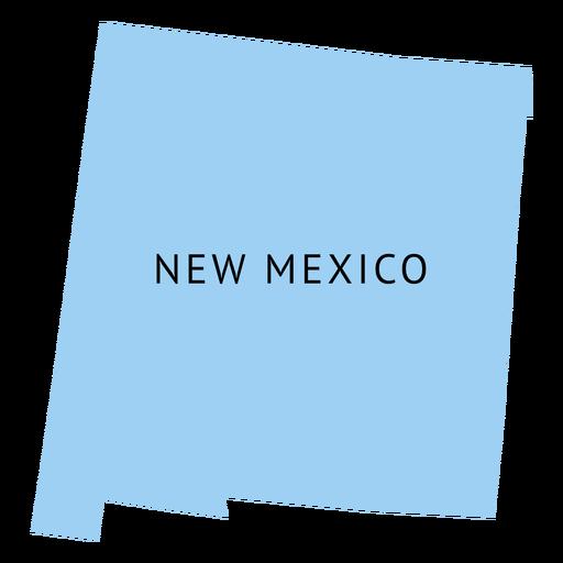 Mapa da planície do estado do Novo México Transparent PNG
