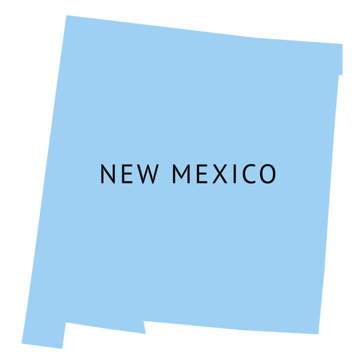 New mexico state plain map Transparent PNG