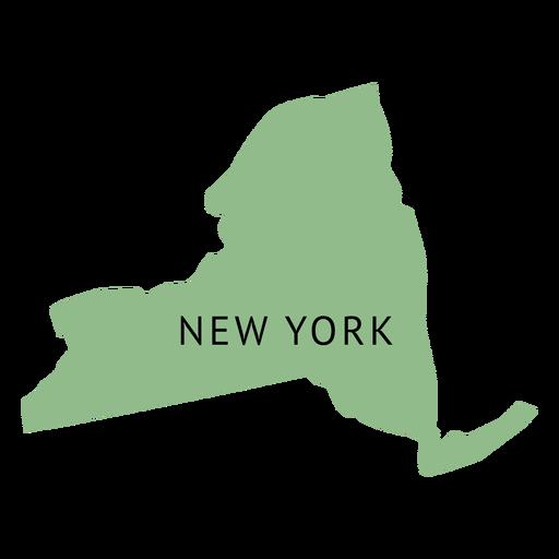 Mapa llano del estado de Nueva York Transparent PNG