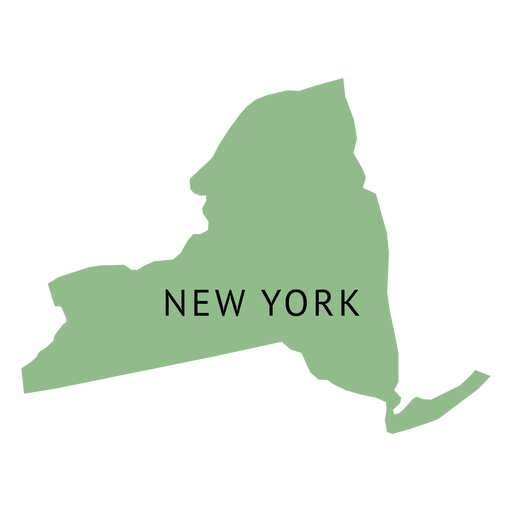 New york state plain map Transparent PNG