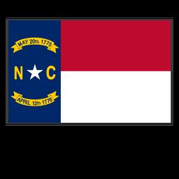 Bandera del estado de carolina del norte