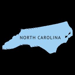 Mapa llano del estado de carolina del norte