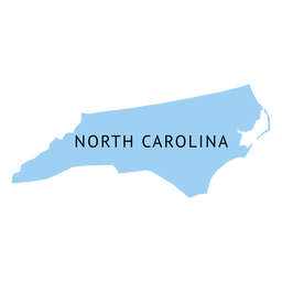 North carolina state plain map