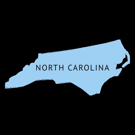 North carolina state plain map
