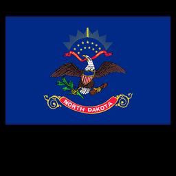 Bandeira do estado da Dakota do Norte