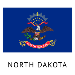 Bandera del estado de Dakota del Norte