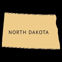 Mapa llano del estado de dakota del norte