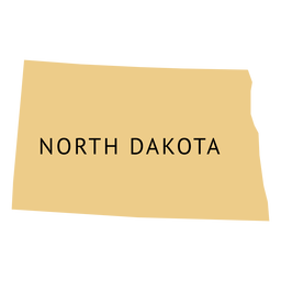 North dakota state plain map