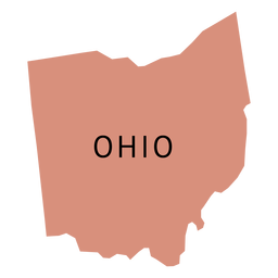 Mapa da planície do estado de Ohio