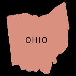 Mapa plano do estado de Ohio