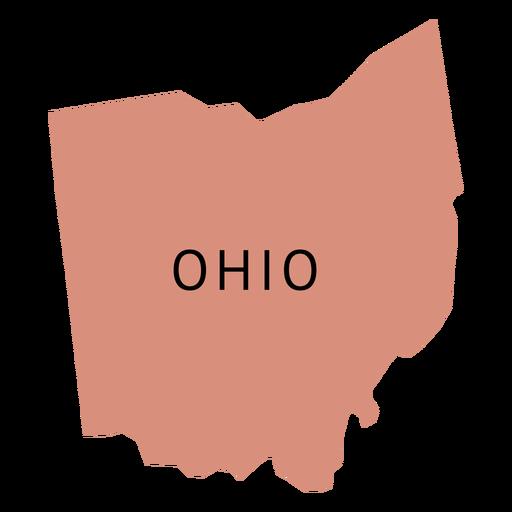 Mapa llano del estado de Ohio Transparent PNG