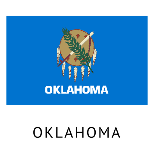 Oklahoma state flag Transparent PNG