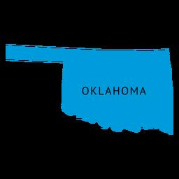 Mapa llano del estado de Oklahoma