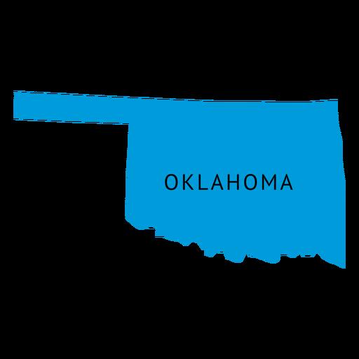 Mapa llano del estado de Oklahoma Transparent PNG
