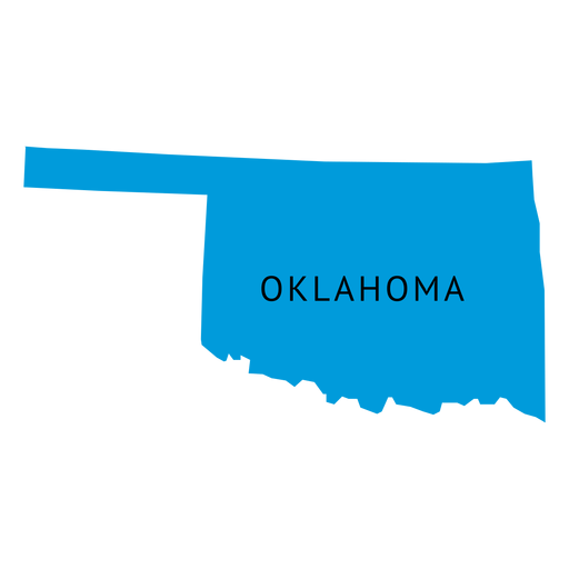Oklahoma state plain map Transparent PNG