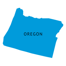 Oregon state plain map