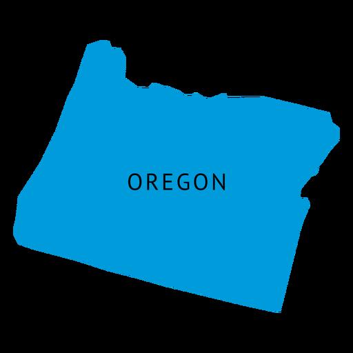 Mapa llano del estado de Oregon