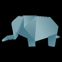 Elefante de papel de origami