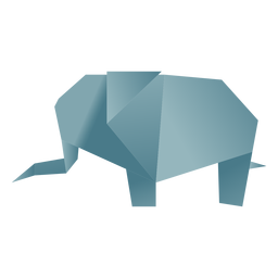 Origami paper elephant