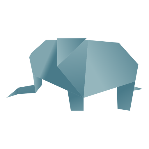 Origami paper elephant Transparent PNG