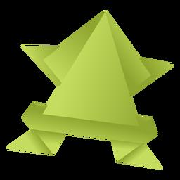 Rã de papel Origami