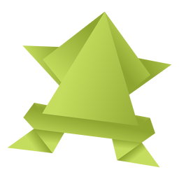 Rana de papel origami