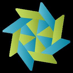 Papel Origami estrela ninja
