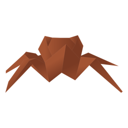 Aranha de papel origami