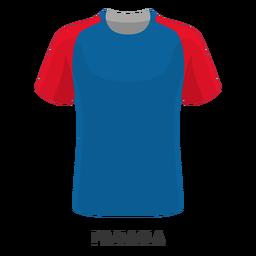 Dibujos animados de camiseta de fútbol de la copa mundial de panamá