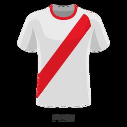 Dibujos animados de camiseta de fútbol de la copa mundial de Perú