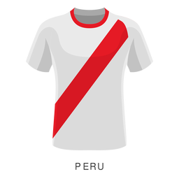 Peru world cup football shirt cartoon