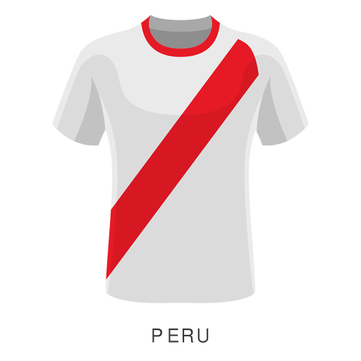 Peru world cup football shirt cartoon Transparent PNG