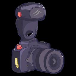 Desenho de câmera de foto