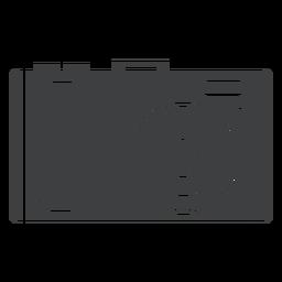 Ícone cinza da câmera fotográfica