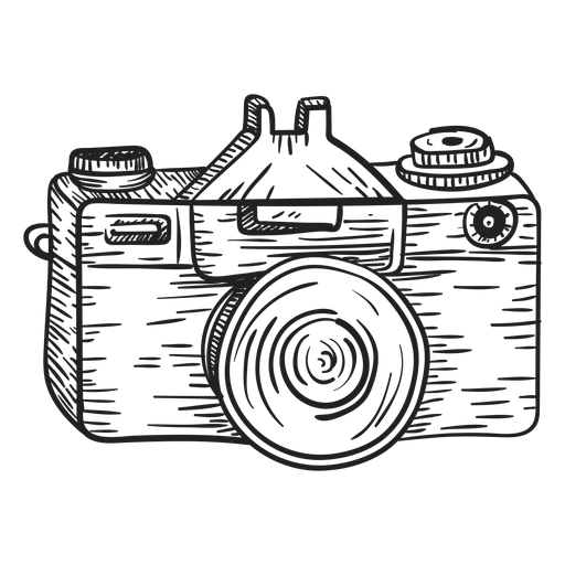 Photo camera sketch Transparent PNG