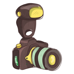 Icono de boceto cámara de fotos