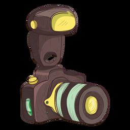 Icono de esbozo de cámara de fotos