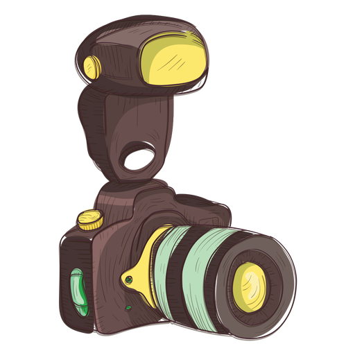 Photo camera sketch icon Transparent PNG
