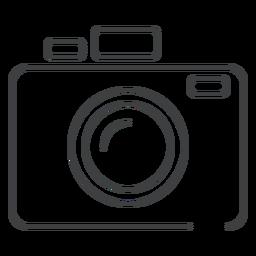 Icono de trazo de cámara de foto