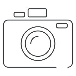 Photo camera stroke icon